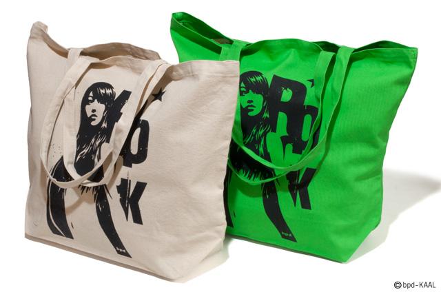 KAAL アート作品 Venus Rock ヴィーナス・ロック 大きめキャンバス トートバッグ 商品詳細1