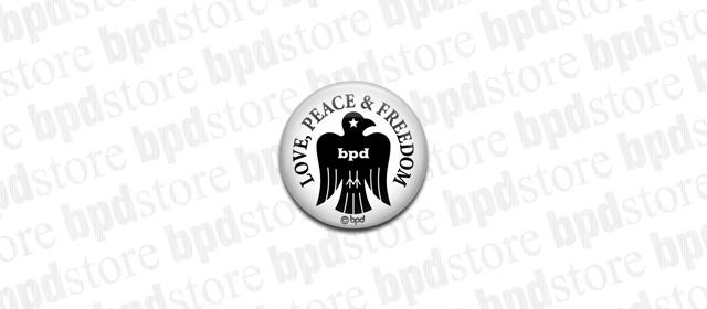 bpd Bird エンブレムデザインの缶バッジ