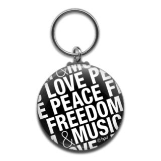 bpd kaal love peace freedom design key ring