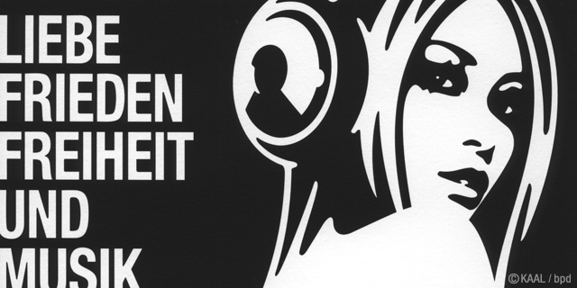 KAAL Liebe Frieden Freiheit Musik ジークレー版画 プリント