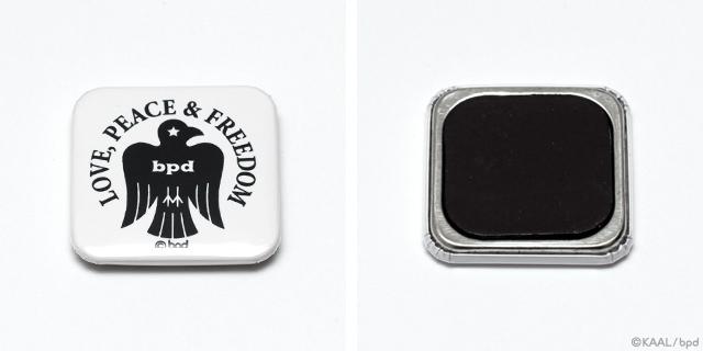 bpd Bird エンブレム 正方形の缶マグネット