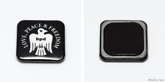 bpd Bird エンブレム 鳥ロゴマークの缶マグネット