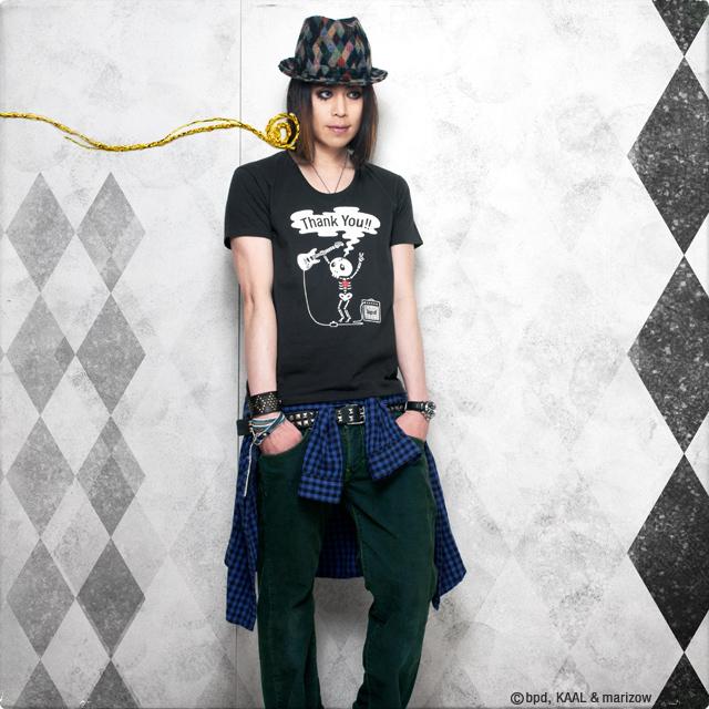 ロックなドクロTシャツ モデル KAAL