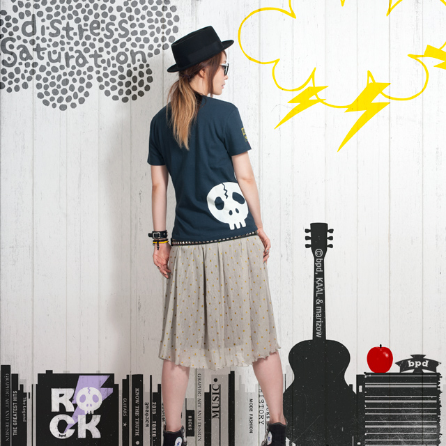 bpd ROCK ドクロ Tシャツ モデル marizow 2