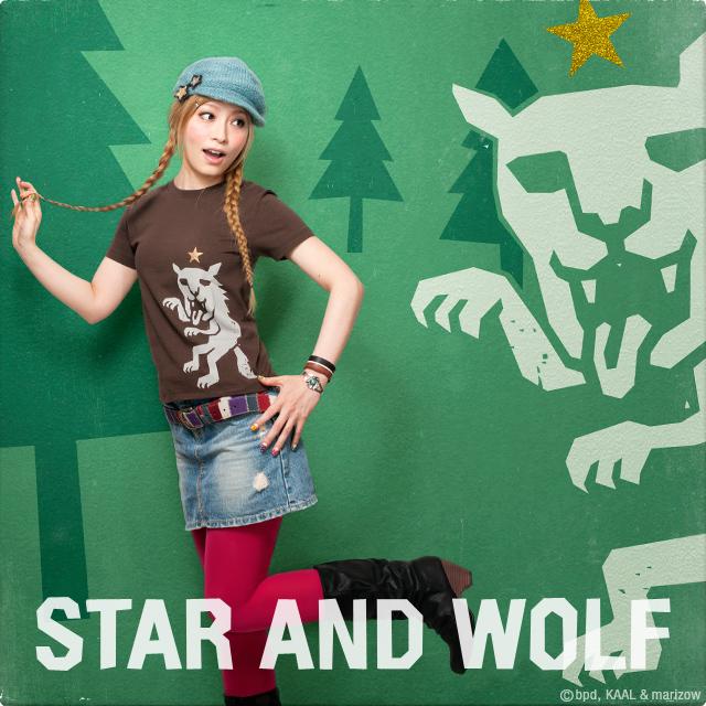星とオオカミ Tシャツ