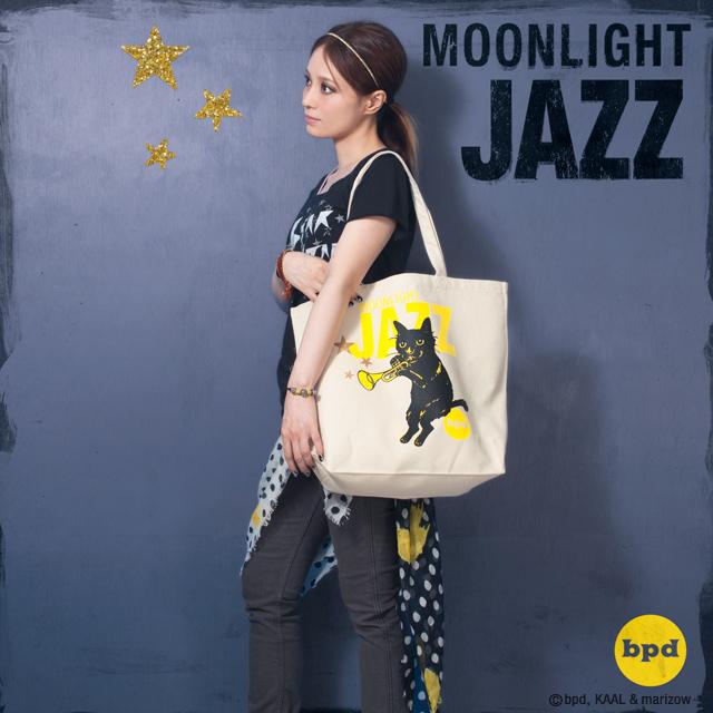 黒猫 トートバッグ モデル写真