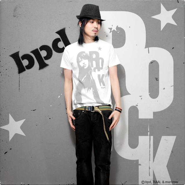 ロック&モード系グラフィック・アート Venus Rock Tシャツ モデル写真 KAAL