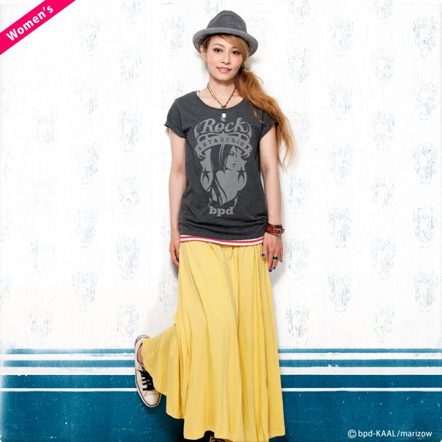 bpd Rock エンブレム レディース デザインTシャツ モデル marizow