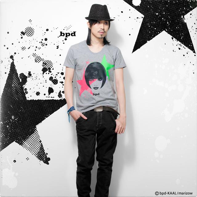 モード系イラスト Tシャツ MIX AND MATCH モデル写真
