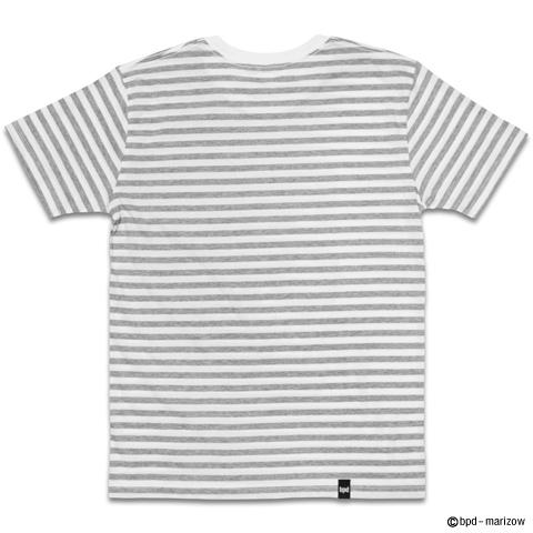 カミナリ ロック ドクロ ボーダーTシャツ 背面写真