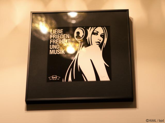 KAAL インテリア ジークレー版画 Liebe Frieden Freiheit und Musik