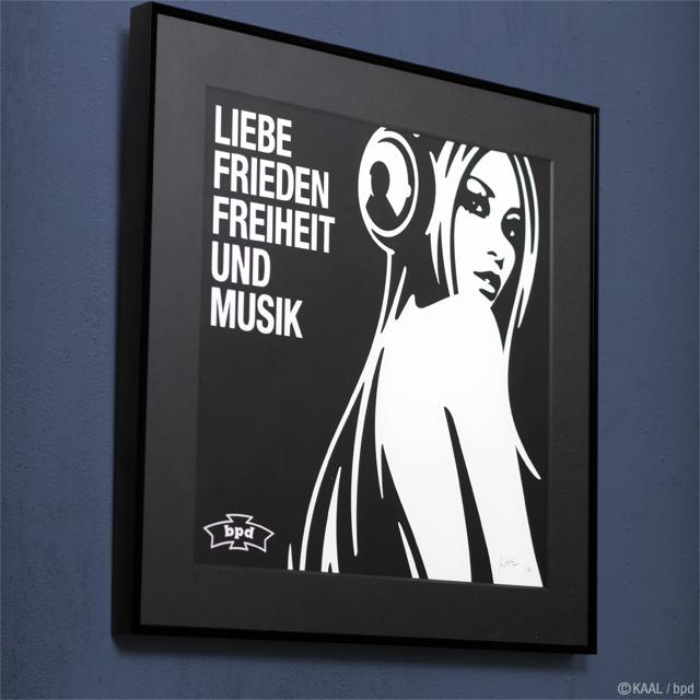 インテリアアート KAAL Love Peace Freedom Music LPレコードジャケット