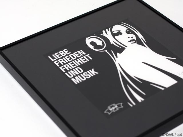レコードジャケットサイズ Liebe Frieden Freiheit und Musik ジークレー版画