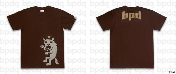 星とオオカミ Tシャツ ブラウン